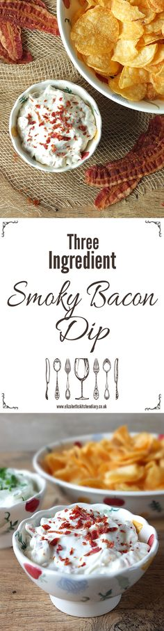 A quick five minute three ingredient smoky bacon dip - ideal to be served with the new Market Deli range of crisps! #spon