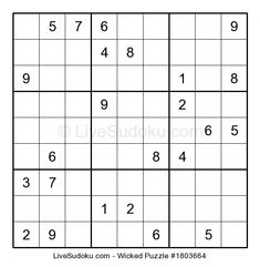 Feel free to print this Sudoku