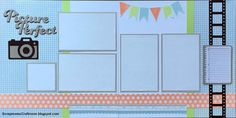 Picture Perfect layout using Zoe paper collection from CTMH #ctmhzoe - ScrapmomsCraftroom.blogspot.com