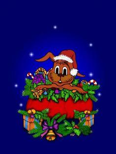 'Weihnachtshase' von artkszp bei artflakes.com als Poster oder Kunstdruck $16.63