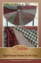 Ragged Christmas Tree Skirt Pattern- DIGITAL