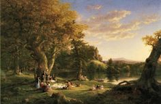 Thomas Cole: The Picnic. 1846. Oil on canvas.