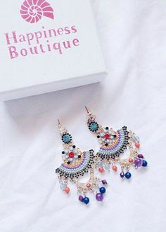 Bohemian Style Statement Earrings 17,90 € #happinessbtq