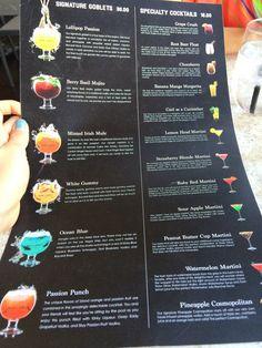Sugar Factory American Brasserie - Las Vegas, NV, United States. Drink menu