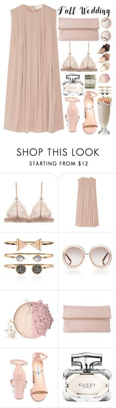 """""""Fall Wedding"""" by aguniaaa ❤ liked on Polyvore featuring CO, Accessorize, Chloé, Whistles, Steve Madden, Urban Decay, Jack Spade, Gucci, polyvoreeditorial and polyvorecontest"""