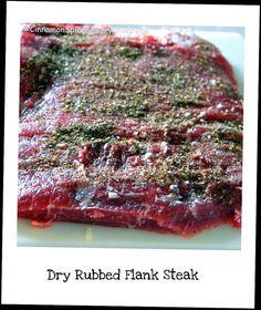 Dry Rubbed Flank Steak by ~CinnamonGirl, via Flickr