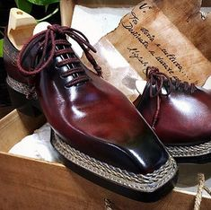 Handmade leather shoes for sale Suit Shoes, Mens Shoes Boots, Shoe Boots, Shoes Sneakers, Handmade Leather Shoes, Leather Skin, Dream Shoes, Shoe Game, Bespoke