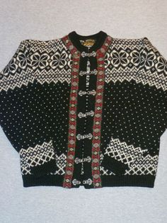 Vintage Devold Hand Knitted Pure New Wool Norwegian Clasped Sweater   eBay