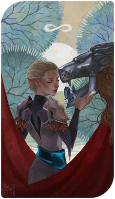 C: Anyla (Dragon Age Inquisition Tarot — The Strength) by Ravietta.deviantart.com on @DeviantArt