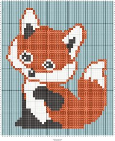 fox c2c baby blanket | Designed by Suzy Walkling | Stitch Fiddle