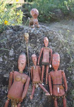 "OOAK Art Dolls ""Aborigenes Family"".  via Etsy."
