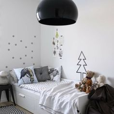 Eclectic kids room via the boo and the boy.