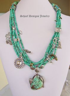 Schaef Designs turquoise charm necklace with native american jewelry | treasure necklace