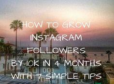 How to grow instagram followers