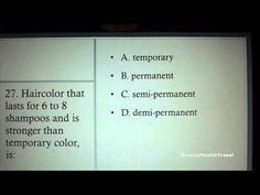 (6) COSMETOLOGY: CHEMISTRY theory for state board exam - YouTube