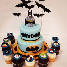 Holy Birthday Cake, Batman!   Made by the talented decorators at 3 Women and an Oven in Overland Park, KS  http://3womendesserts.com/