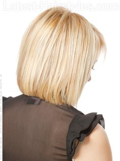 Stacked Bob Hairstyles Back View | Pastel Princess Bob Hairstyle With Bangs Back View