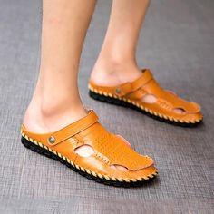 d60a7d6740419 Men s Casual Flat Beach Shoes Slip-on Sandals Mode Für Männer