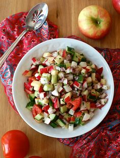 Indian Apple, Tomato and Radish Salad