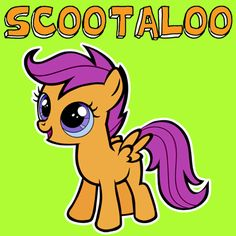 How to Draw Scootaloo from My Little Pony with Easy Step by Step Drawing Tutorial