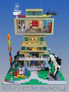 This LEGO gallery is a work of art