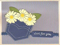 Pocket Full of Daisies by Mere Deaux - Cards and Paper Crafts at Splitcoaststampers