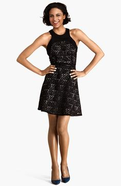 Donna Morgan Cutaway Lace Fit & Flare Dress available at #Nordstrom