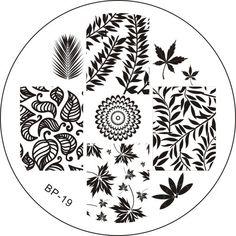 # 17264 JPY ¥147 1枚 葉のデザインイメージプレートスタンプネイルアートBPS 19 - harunouta.com