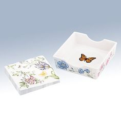 Butterfly Meadow® Napkin Box with Printed Napkins (SKU: 820734)