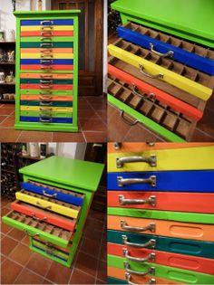 Miniature dollhouse parts storage - I want
