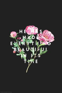 He has made everything beautiful in its time. He has also set eternity in the human heart; yet no one can fathom what God has done from beginning to end. - Ecclesiastes 3:11