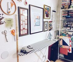The Neverending Bobbin sewing area