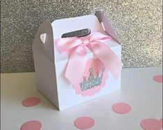 Princess Party Favors, Mini Gable Favor Boxes, Silver Or Gold Glitter Tiara, Gir. - My WordPress Website Baby Shower Party Favors, Party Favor Bags, Baby Shower Parties, Favor Boxes, Gift Bags, Baby Showers, Ballerina Birthday Parties, 1st Birthday Girls, Princess Birthday