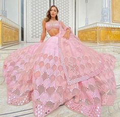 Fashion Gallery :: Khush Mag - Asian wedding magazine for every bride and groom planning their Big Day Wedding Dresses For Girls, Indian Wedding Outfits, Pakistani Outfits, Bridal Dresses, Bridal Outfits, Pink Lehenga, Bridal Lehenga, Lehenga Choli, Pakistani Bridal
