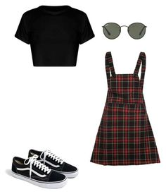 """look 1"" by katiemharvey ❤ liked on Polyvore featuring J.Crew and Ray-Ban"