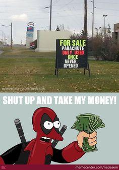 Heh heh heh... #deadpool #funny