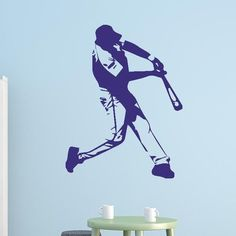"""Style and Apply Baseball Batter Wall Decal Color: Pastel Orange, Size: 16"""" H x 12"""" W"""