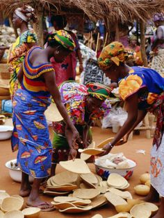 West African food Africa West African food Jollof Rice Vogan, Togo Women at . West African food Africa West African food Jollof Rice Vogan, Togo Women on the Friday market. The colors