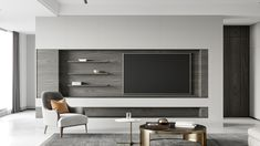 Living Room Wall Units, Living Room Modern, Home Living Room, Living Room Designs, Tv Console Design, Tv Unit Design, Modern Tv Units, Modern Tv Wall, Arch Interior