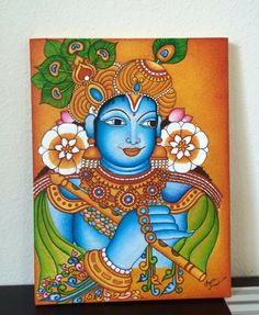 Buddha Drawing, Buddha Painting, Krishna Painting, Kerala Mural Painting, Indian Art Paintings, Madhubani Painting, Mom Drawing, Mural Art, Murals