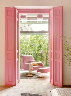 #pinkdoor #pinkinterior