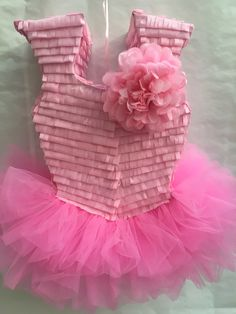 Ballerina Piñata by LetsPartyByKarla on Etsy Ballerina Birthday Parties, Ballerina Party, Little Ballerina, Pink Birthday, Ballet, Minnie Mouse, Gold Backdrop, Tutu Party, Photo Prop