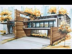 architecture sketch house the series of architecture houses this is the ho… Poster Architecture, Model Architecture, Perspective Architecture, Architecture Design Concept, Interior Architecture Drawing, Architecture Drawing Sketchbooks, Watercolor Architecture, Amazing Architecture, Residential Architecture