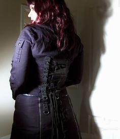Gothic Black Corset Jacket