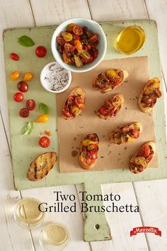 Check out this sweet, fresh grilled bruschetta appetizers for your next summer barbecue. The tomatoes burst with flavor over lightly charred, crusty bread. Learn how!