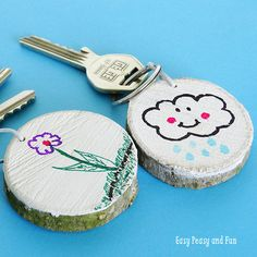 DIY Father's Day Craft Ideas - Gifts for dad he will love. Diy Father's Day Crafts, Father's Day Diy, Fathers Day Crafts, Diy Gifts For Dad, Homemade Gifts, Easter Crafts For Kids, Diy For Kids, Papa Tag, Wooden Keychain