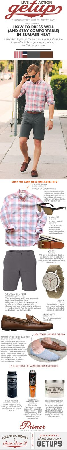 The Getup: How to Dress Well (and Stay Comfortable) in Summer Heat - Primer