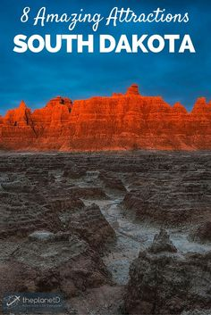 The Badlands of South Dakota. Waking up early and watching sunrise at Widows and Doors was a highlight of the trip for us. // 8 Amazing South Dakota Attractions | The Planet D Adventure Travel Blog: