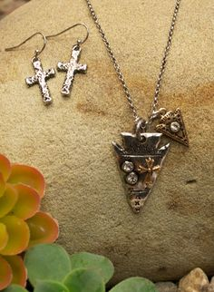 Arrow Cross Necklace