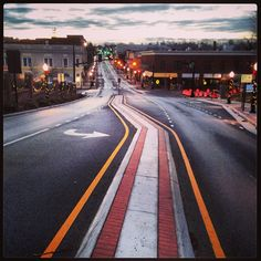 A slick, January, sunrise in Blacksburg, VA #Blacksburg #VirginiaTech #Hokies (Photo by Peter Means)